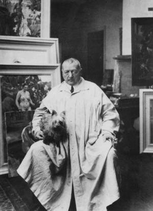 Anders Zorn 1860–1920. Ofta kallad målarnas mästare. Han gjorde en makalös framgång, inte minst internationellt. I Sverige mest känd för sina skildringar av landskap och folkliv och sina nakenstudier.