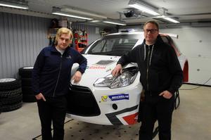 Ludvika MS-förarna Robin Friberg och Thomas Thunström ställer upp i Svenska rallyt i varsin helt ny Citroën DS 3 R5.