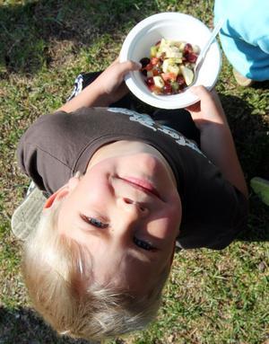 GOTT. Svante Westin gillade fruktsalladen.