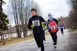 Johanna Morin, Hammerdal, vann sin första mara på 3.31,40.