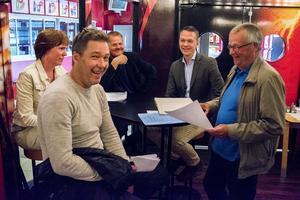 Malin Nordqvist (ledamot), Patrik Bylund (marknadschef), Lars Backlund (ordförande), Niklas Dernebo (ledamot) och Kjell-Åke Tjernström (ledamot)