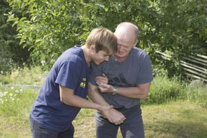 Sven Engström, med pappa Jan Engström som är född och uppväxt i Sala.