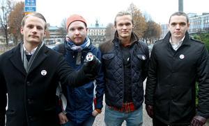 Fyra högskolstudenter står bakom kampanjen Rädda bocken, som fått stort gensvar. Alexander Romin, Per Malm, Gabriel Ekman och Joakim Silfverberg.