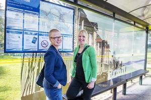 Helena Näsström och Linnea Egnor från det kommunala projektet Hållbart resande planerar för en rad aktiviteter i höst.