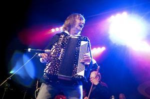 Roland Cedermark rockade loss med dragspelet. Foto:Paulina Håkansson