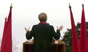 LO:s före detta ordförande Wanja Lundby Wedin i talarstolen.