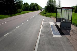 Likt busshållplatsen i Duvberg kommer upprustningen också innebära tillgänglighetsanpassning