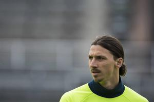 Zlatan Ibrahimovic under träning inför EM.