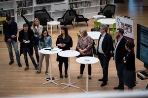 Panelen utgjordes av, från vänster: Henrik Stub, Claude Jonsson, Therese Herkules, Lama Alshehaby, Lena-Maria Busk, Päivi Hjerp, Hans Unander, Carl-Johan Bergman och Teresa Bergkvist.