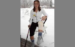 I stället för tävlande i boardercrossens världscup får Maria Danielsson vila upp i hemmet i Siljansnäs efter sin sjätte knäoperation.FOTO: HÅKAN ERIKSSON