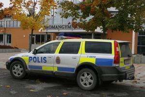 En polispatrull åkte i måndags upp till Bromangymnasiet för att ta emot en anmälan om misshandel.