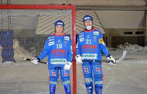 Selångers målkungar Karl Högberg och Nicklas Blomqvist. Till helgen ställs Selånger mot IFK Umeå på bortaplan.