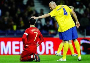 Daniel Majstorovic och storstjärnan Cristiano Ronaldo.