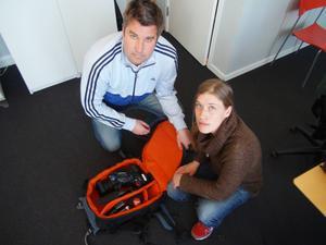 Marcus Noterius, här tillsammans nuvarande kollegan Johanna Svensson.