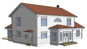 Så här kommer huset att se ut på baksidan.