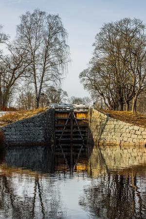 Slussen vid hembygdsgården i Fagersta