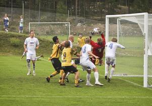 Ola Jönsson Bruce spelade stabilt mellan SFF:s stolpar och bidrog i högsta grad till 2–1-segern mot Heby.