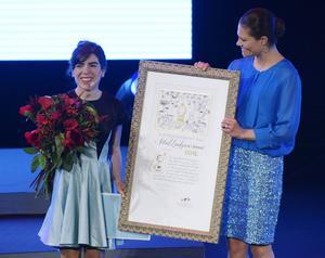 Argentinska Isols böcker gavs ut i Sverige efter att hon tagit emot Alma-priset av kronprinsessan Victoria. Arkivbild.   Janerik Henriksson TT