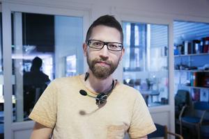 Per Granit jobbar i receptionen på högskolan i Borlänge sedan tjugo år.