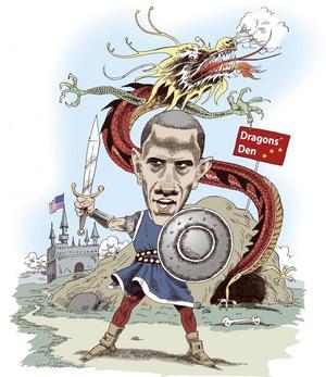 Obama. USA får allt svårare att försvara sin ledande roll i världsekonomin.