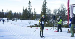 Maria Nordström, Ulricehamns IF, som vann damklassen, åkte de tre milen över fjällen på en dryg timme.