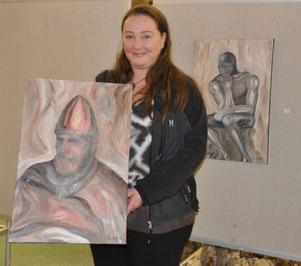 Ulrika Lepik ställer ut sin konst i Ljushallen under fyra veckor.