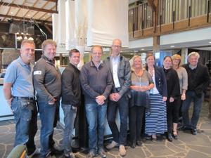 Projektdeltagare och utbildningsanordnare som möttes i Sälen då utbildningssatsningen för besöksnäringen presentderades.