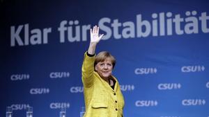Angela Merkel är på väg mot sin tredje raka valseger i Tyskland.