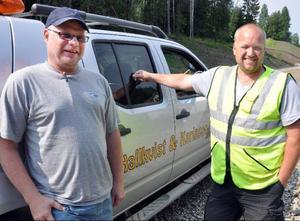 Sven-Erik Hallkvist och Pär Karlsson, Hallkvist & Karlsson, avslutar snart vägbygget mellan Revsund och Våle.