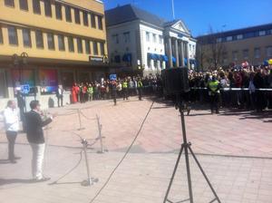 Jimmie Åkesson höll tal om valet till Europaparlamentet och kritiserade bland annat den fria rörligheten inom EU.
