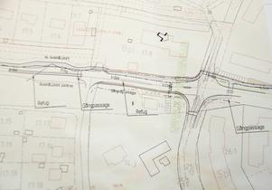 Så här ser planerna ut för gång- och cykelvägens sträckning i centrala Matfors.