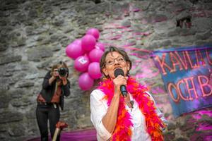 Gudrun Schyman, FI:Hon är repliksnabb, humoristisk och har en energi som går igenom rutan.