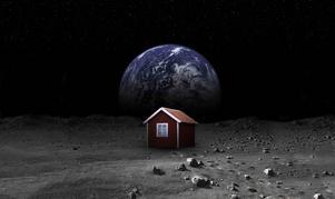Mikael Genbergs digitala Faluröda stuga på månen blir internationellt uppmärksammad