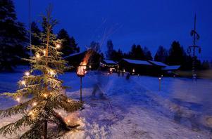 Så här stämningsfull kan julmarknaden vid Gammelgården vara.