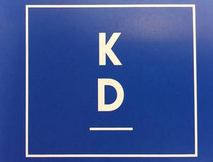 Kristdemokraternas nya logotyp består av bokstäverna k och d.
