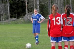 Tova Linder, målskytt mot Franke. Foto: Niclas Bergwall