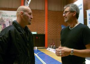 Två Jämtlandslegendarer. Roger Lilliesköld, i dag ungdomstränare, och Jonte Karlsson. Jonte hade en förklaring till det svenska