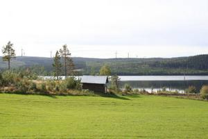 Så här kan det se ut när vindkraftparken är utbyggd. Parken kommer vara synlig längs E14 från Mattmar och västerut.