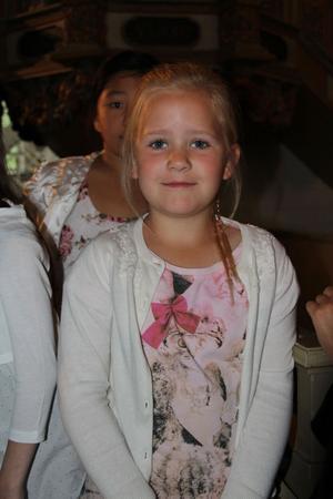 Ella Fjellner ser fram emot att få sitt första sommarlov innan hon börjar första klass till hösten.