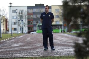 Svenne Olsson på torsdagseftermiddagen. På fredagsmorgonen lyfte svenska landslaget mot Ryssland.