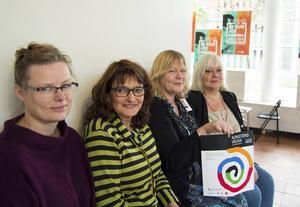 Karin Kvam, Ellen Hyttsten, Jeanette Wahl och Bodil Halvarson finns med i samverkansgruppen som gör Konstens vecka möjlig.