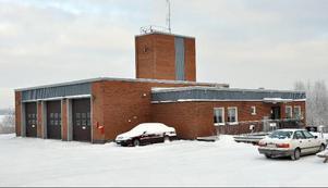 Gällö brandstation, vattenleverantör till Östersunds sjukhus.