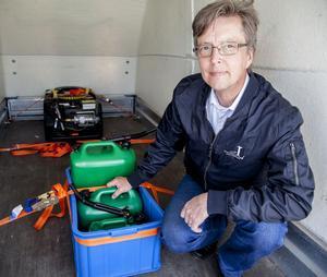 Rikard Gerbat blandade av misstag  i 75 procent metanol i bensinen när han tankade i Docksta mot normalt 55 procent  Testbilen fungerade lika bra.