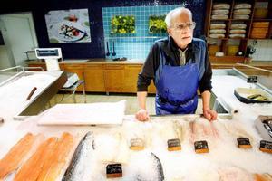 Bosse Eklund på Bosses fisk hävdar att försäljningen har ökat de senaste åren. Foto: Henrik Flygare