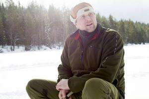 Jonas Rantanen på Ljusacksens is. Foto: Arkiv.