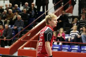 Hampus Nordberg visade fin form genom att vinna båda sina matcher mot Spårvägen i måndags.