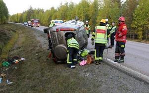 Två flickor fick lindriga skador vid olyckan på torsdagskvällen. Foto: Sven Thomsen/DT