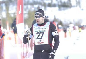 Fredrik Byström under en skidtävling i Orsa Grönklitt 2015.