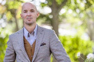 Anders Ericson är nybliven svensk mästare i skoputsning.