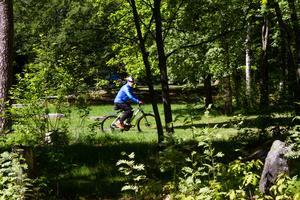 Det går fort när Nils-Erik susar fram i skogen.